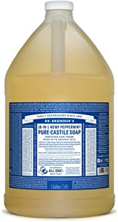 Dr. Bronner's Pure-Castile Liquid Soap - Peppermint, 1 Gallon