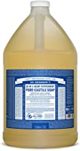 Dr. Bronner's - Pure-Castile Liquid Soap (Peppermint, 1 Gallon) - Made with Organic Oils, 18-in-1 Uses: Face, Body, Hair, ...