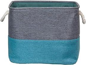 JUAN Foldable Storage Basket Clothes Toy Finishing Cotton Linen Art Three Colors Optional (Color : Green, Size : 40cm*30c...