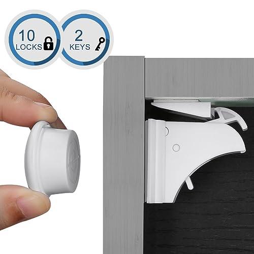 Linkax Bloqueo de Seguridad para Bebés Cierres de seguridad Para Niños Cerraduras Magnéticos de Seguridad para