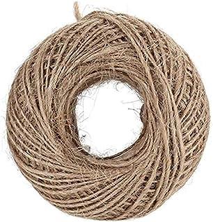 Haobase 100 Meter Natural Burlap Hessian Jute Twine Cord Hemp Rope String 2.5mm Rustic Wrap Gift Packing String Wedding De...