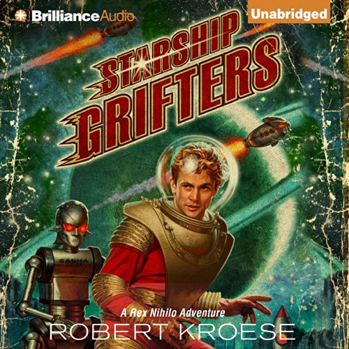 Starship Grifters audiobook cover art