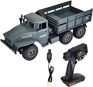 Neufday RC Car, MZ 2004 1/12 Scale 2.4G Remote Control Military Truck RC 6WD Model Car Off-Road to(Shown