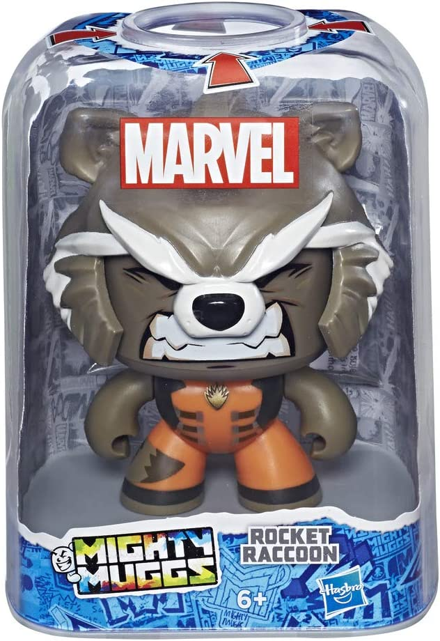 Marvel Classic- Mighty Muggs Figura coleccionable de Marvel, Rocket Raccoon, Multicolor (Hasbro E2197EU4) , color/modelo surtido