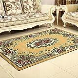 LIYANJIN Teppiche, traditioneller Flächenteppich Leicht zu reinigender fleckabweisender moderner zeitgemäßer weicher Wohn- und Esszimmerteppich,Yellow,115 * 160cm