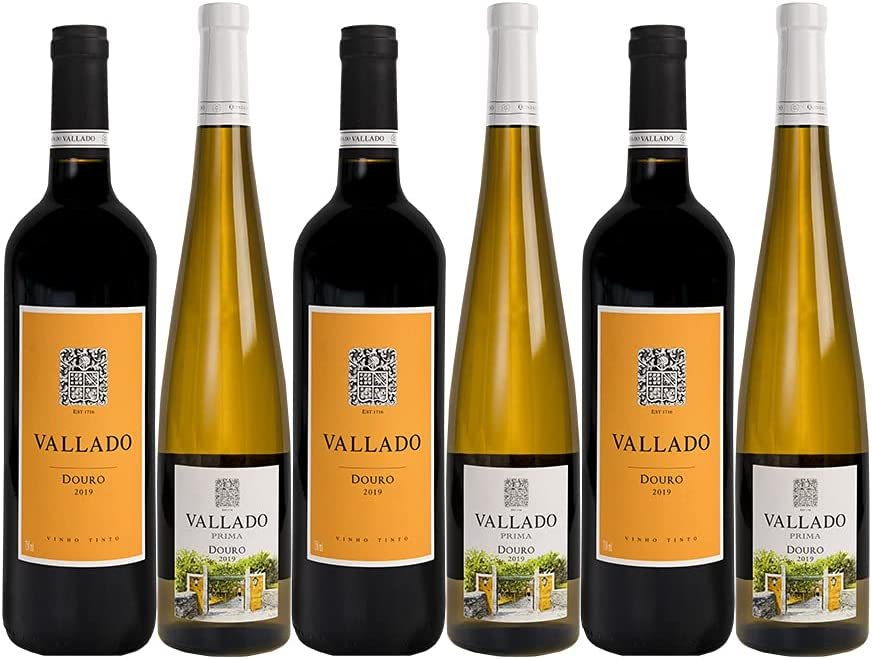 Pack 6 Seleção Douro Quinta do Vallado 0,75L - 3 Vallado Tinto y 3 Vallado Prima Blanco