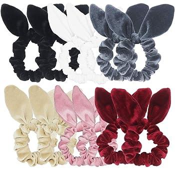 12 Pack Hair Scrunchies Velvet Scrunchy Bobbles Lady Ring Elastic Hair Band