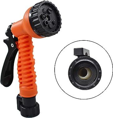 TINVHY 50FT Expandable Adjustable Spray Flexible Orange Garden Water Hose w/Spray Nozzle