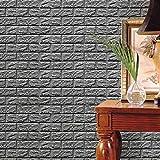 Vovotrade Sticker Fond d'écran 3D Bricolage Autocollants Muraux Décoration Murale en Relief en Pierre Pierre PE Mousse Créative...