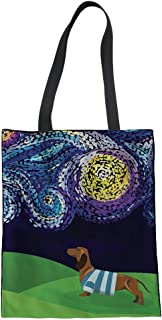 Mumeson Reusable Linen Tote Bags Digital Print Eco-friendly Shoulder Bags for Travel Outdoor Hiking Canvas Shopping Totes