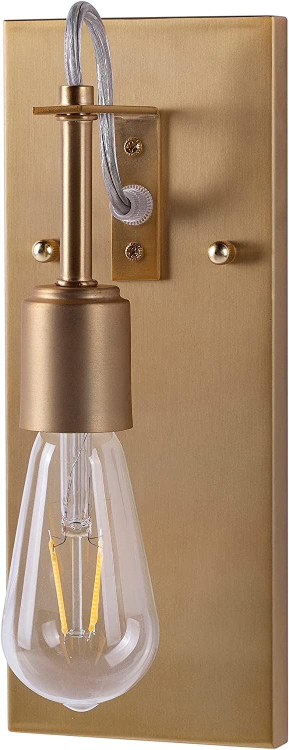 Unknown1 1-Light Soft Gold Special price for a limited time Max 49% OFF Compliant Contempo Sconce Modern Wall