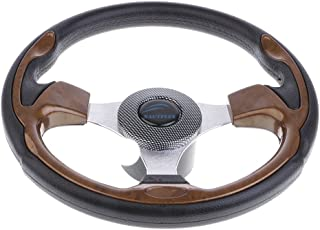 "Dolity 320mm Aluminum Alloy Marine Boat Pontoon Steering Wheel 3 Spoke 3/4"" Shaft"