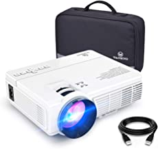 VANKYO LEISURE 3 Mini Projector, 1080P and 170'' Display Supported, 2400 Lux Portable Movie Projector with 40,000 Hrs LED Lamp Life, Compatible with TV Stick, PS4, HDMI, VGA, TF, AV and USB