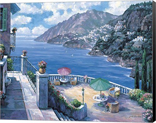 The Amalfi Coast by John Zaccheo Canvas Art Wall Picture, Museum Wrapped with Black Sides, 25 x 20 inches