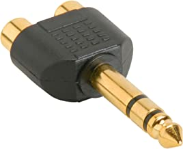 PARTS EXPRESS 1/4 Stereo Male to 2 RCA Female Y Adapter Plug
