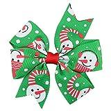 LEXUPE Baby-Weihnachtsverzierungen Bowknot-Haarnadel-Kopfschmuck(F,Free Size)