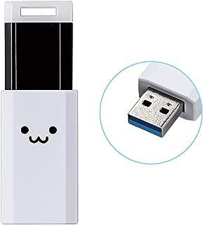 エレコム USBメモリ 32GB USB3.1 & USB 3.0 ノック式 ホワイト MF-PKU3032GWHF