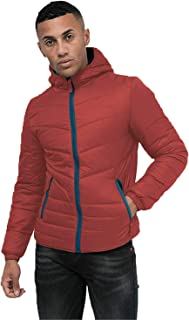 Crosshatch Mens Developer Padded Jacket Coat Quilted Bubble Hooded Winter Warm