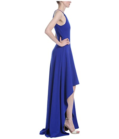 Badgley Mischka Halter Neck Slit Gown (Electric Blue) Women