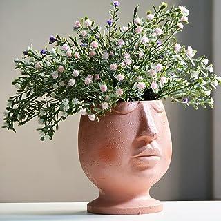 JYTTI Cute Head Planter Pots Face Planters Succulent Garden Flower Pot, Portrait Bust Sculpture Statue Vase with Hole for ...