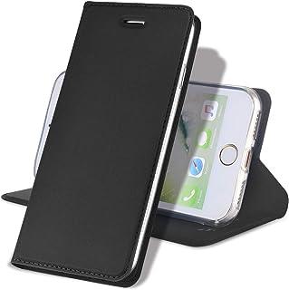 【ワイヤレス充電対応可能】 iPhone 8 ケース iPhone7ケース 手帳型 薄型 スマホケース 耐衝撃 手帳型カバー PUレザー カード収納 アイフォン7 ケース アイフォン8 ケース マグネット式 スタンド機能 アイフォンケース (i...