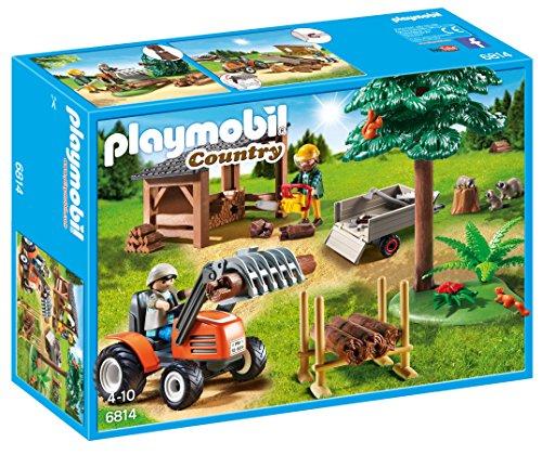 PLAYMOBIL- Country Almacén de Madera y Tractor Playsets de