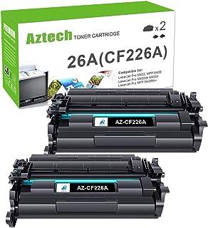 Best Aztech Compatible Toner Cartridge Replacement for HP 26A CF226A 26X CF226X Laserjet Pro M402dn M402n M402dw Laserjet Pro MFP M426fdw M426fdn M426dw (Black, 2-Pack) Review
