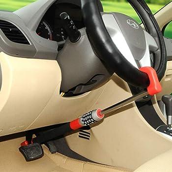 steering wheel lock Adjustable Length Lock anti-theft protection, steering wheel clutch lock, Car Anti-Theft Device Universal retractable car steering wheel anti-theft lock lock lever
