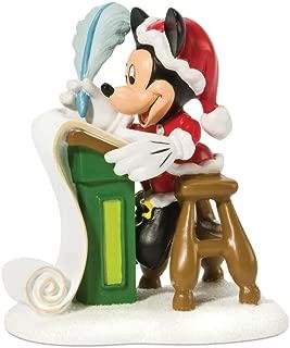 Department 56 Disney Village Mickey Checking the List Twice Accessory Figurine