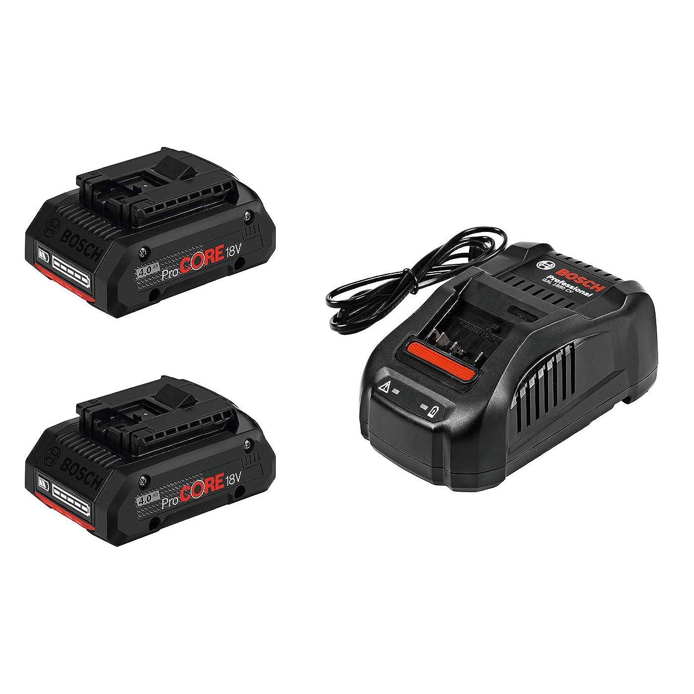 実験室備品キャベツボッシュ(BOSCH) 18V4.0Ah ProCOREバッテリー&充電器セット ProCORE18V4S2
