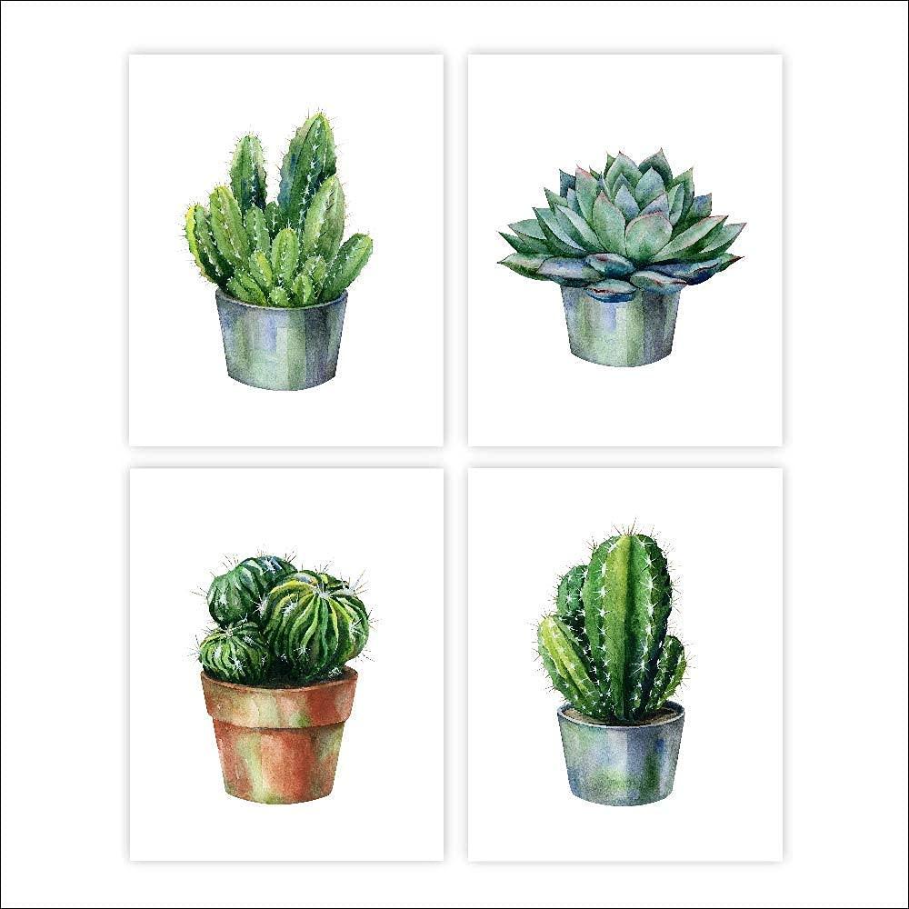 Cheap super special price Cactus Decor Art Prints Set trust of - 8x10s 4 Botanica Unframed