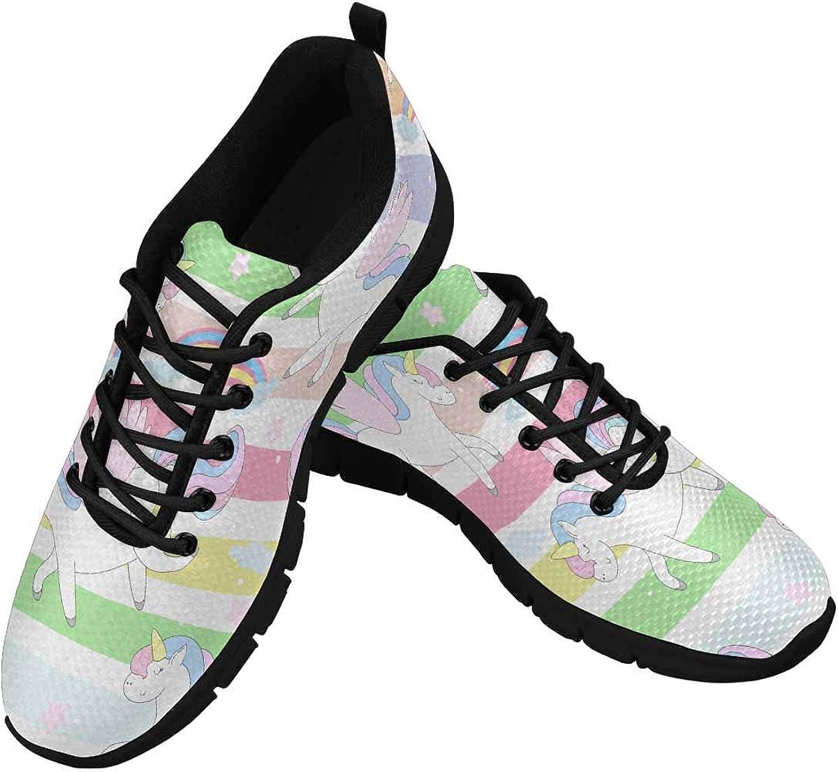 INTERESTPRINT Mugical Unicorns Women's Tennis Running Shoes Lightweight Sneakers