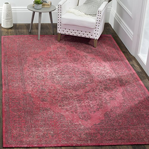 Safavieh Classic Vintage Collection CLV121G Fuchsia Cotton Area Rug (8' x 11')
