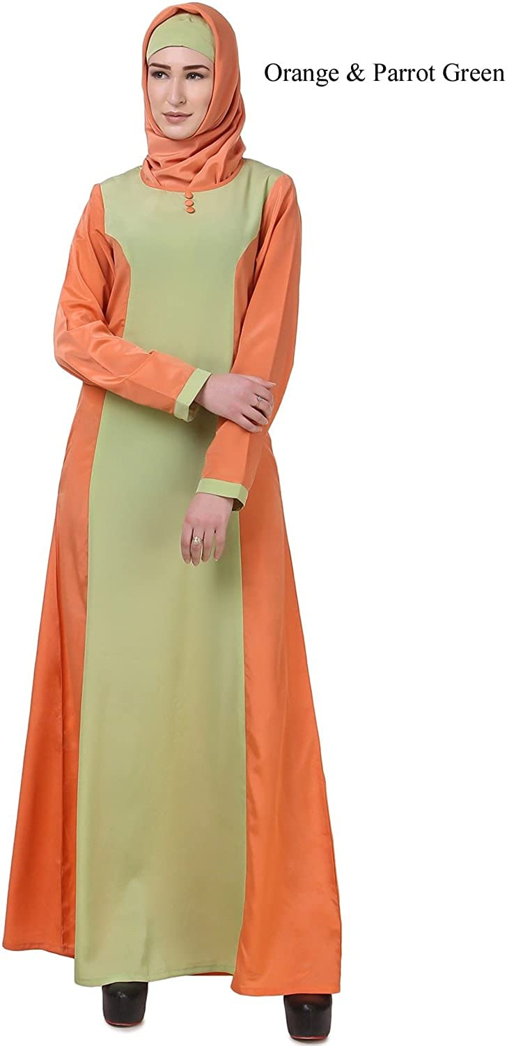 MyBatua orange Abaya Burqa Casual & Formal Wear Islamic Maxi Clothing AY619