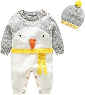 2d1ce841c8153 SHENHAI Série de Noël pour Enfants Vêtements bébé Pull Barboteuse en Coton  Robe de Chambre pour