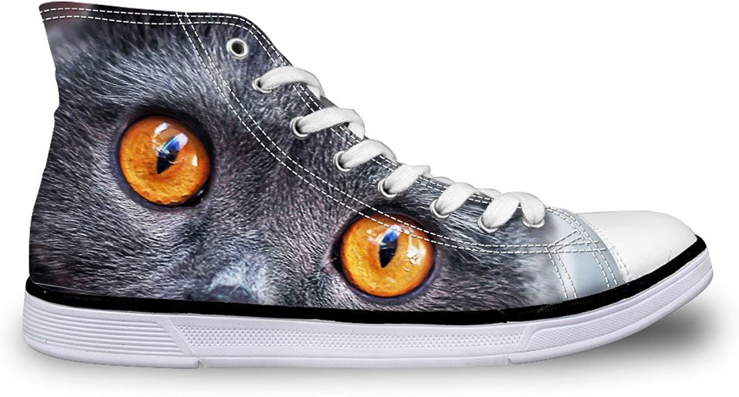 Chaqlin Black Women Canvas shoes High Top Casual Sneakers for Girls Non-Slip