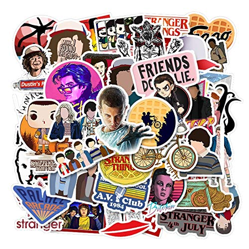 YYSDD Classic Tv Show Thriller Stranger Things Stickers For Motorcycle Notebook Computer Car Diy Guitar Refrigerator Etc 50Pcs/Pack