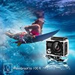 AKASO Brave 4 4K 20MP WiFi Action Camera Ultra HD with EIS 30m Underwater Waterproof Camera Remote Control 5X Zoom… 16 UPGRADE SERIES OF AKASO EK7000: Featuring 4K/24fps, 2K/30fps and 1080P/60FPS video resolution and 20MP photos, AKASO Brave 4 action camera enables you to take incredible photos and ultra HD videos, clearly recording the beauty and wonders in life! OPTIONAL VIEW ANGLE AND ANTI-SHAKING: Adjust the view angle of this action camera according to your needs between 170°, 140°, 110°, and 70°. Built in smart gyroscope for anti-shaking and image stabilization to make your video much more smooth. SPORTS CAMERA WITH WIFI AND HDMI: Sharing & editing videos from an action camera is easier with the free app. Just download the App on your phone or tablet and connect with this action camera. Wi-Fi signal ranges up to 10 meters. With HDMI Port allows you to connect it with television.