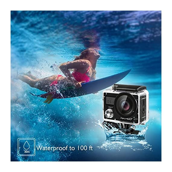 AKASO Brave 4 4K 20MP WiFi Action Camera Ultra HD with EIS 30m Underwater Waterproof Camera Remote Control 5X Zoom… 8 UPGRADE SERIES OF AKASO EK7000: Featuring 4K/24fps, 2K/30fps and 1080P/60FPS video resolution and 20MP photos, AKASO Brave 4 action camera enables you to take incredible photos and ultra HD videos, clearly recording the beauty and wonders in life! OPTIONAL VIEW ANGLE AND ANTI-SHAKING: Adjust the view angle of this action camera according to your needs between 170°, 140°, 110°, and 70°. Built in smart gyroscope for anti-shaking and image stabilization to make your video much more smooth. SPORTS CAMERA WITH WIFI AND HDMI: Sharing & editing videos from an action camera is easier with the free app. Just download the App on your phone or tablet and connect with this action camera. Wi-Fi signal ranges up to 10 meters. With HDMI Port allows you to connect it with television.