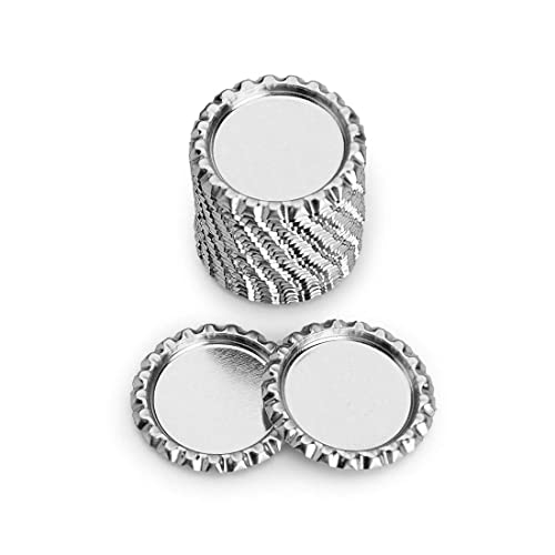 300 1 inch linerless Silver Chrome Bottle Caps for Craft Necklaces