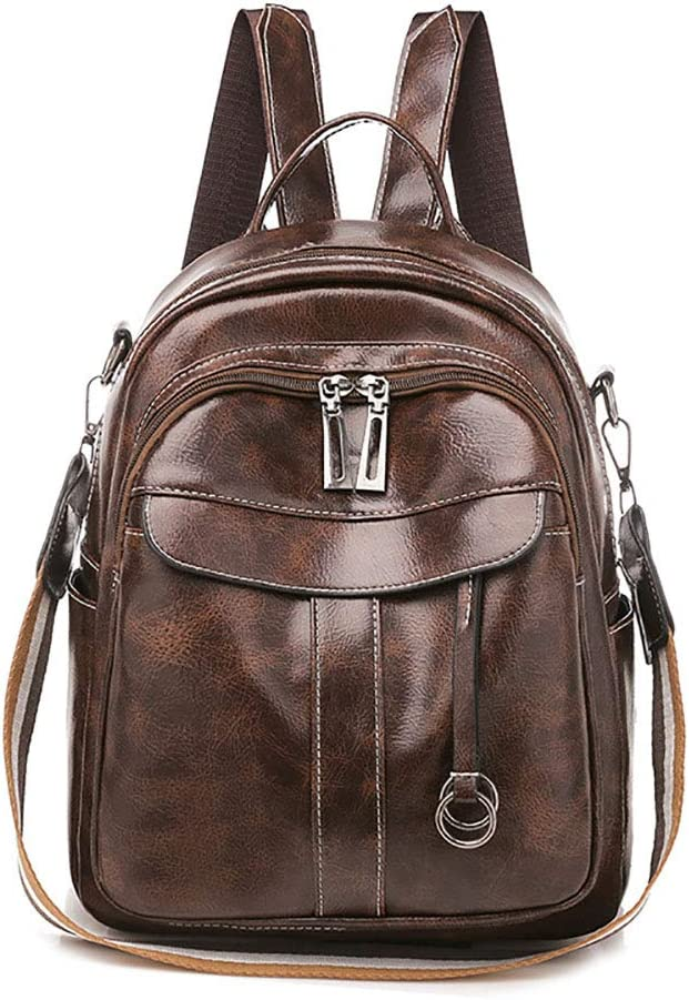 Yimidear Women PU Backpack Oil discount Travel Bags Ranking TOP19 Leather Wax Shoulder