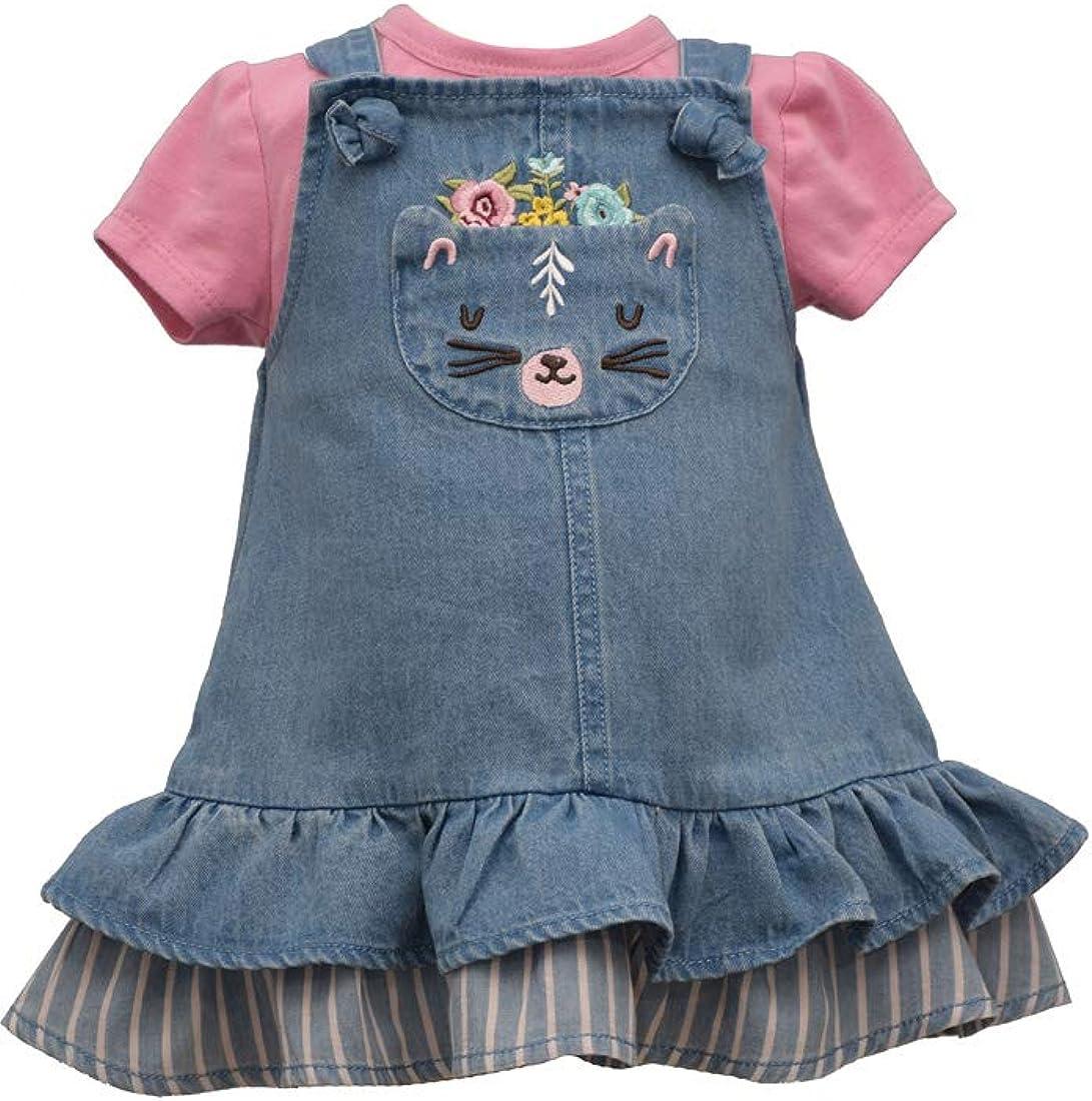 Bonnie Gifts Jean Girl's Philadelphia Mall Dress Denim Cat Toddler for Baby Girls and