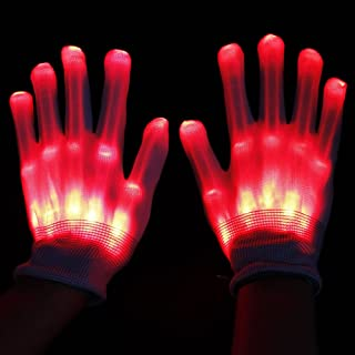 ROKY Colorful Flashing LED Gloves Cool Fun Toys for Kids - Best Gifts
