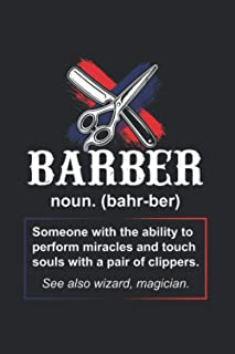 Barber noun. (bahr-ber) Someone with the ability to perform miracles...: Artistic Cartoon Beard 2021 Planner | Weekly & Mo...