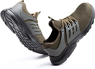 Hitmars Mens Safety Trainers with Steel Toe Cap Breathable Safety Shoes for Women Lightweight IndistructableConstruction ...