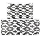 SHACOS Anti Fatigue Kitchen Floor Mat Set of 2 Comfort Mat 10mm Thick PVC Foam Cushioned Standing...