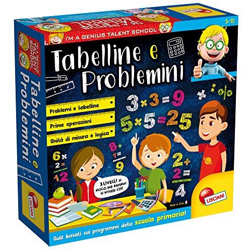 Lisciani Giochi- Tabelline e Problemini Giochi Educativi, Multicolore, 48885