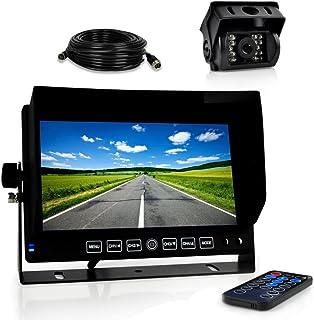Pyle Dash Cam Car Recorder DVR - 7 Inch Monitor Blackbox Rear Camera View Full Color HD 1080p Video Security Loop Camcorde...