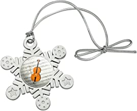 GRAPHICS & MORE Cello Sheet Music Notes Treble Clef Metal Snowflake Christmas Tree Holiday Ornament