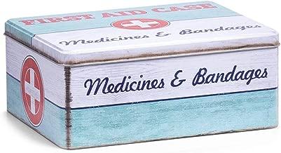 Zeller 19226Medicina Box First Aid, Metallo, ca. 21x 16,6x 8,5cm